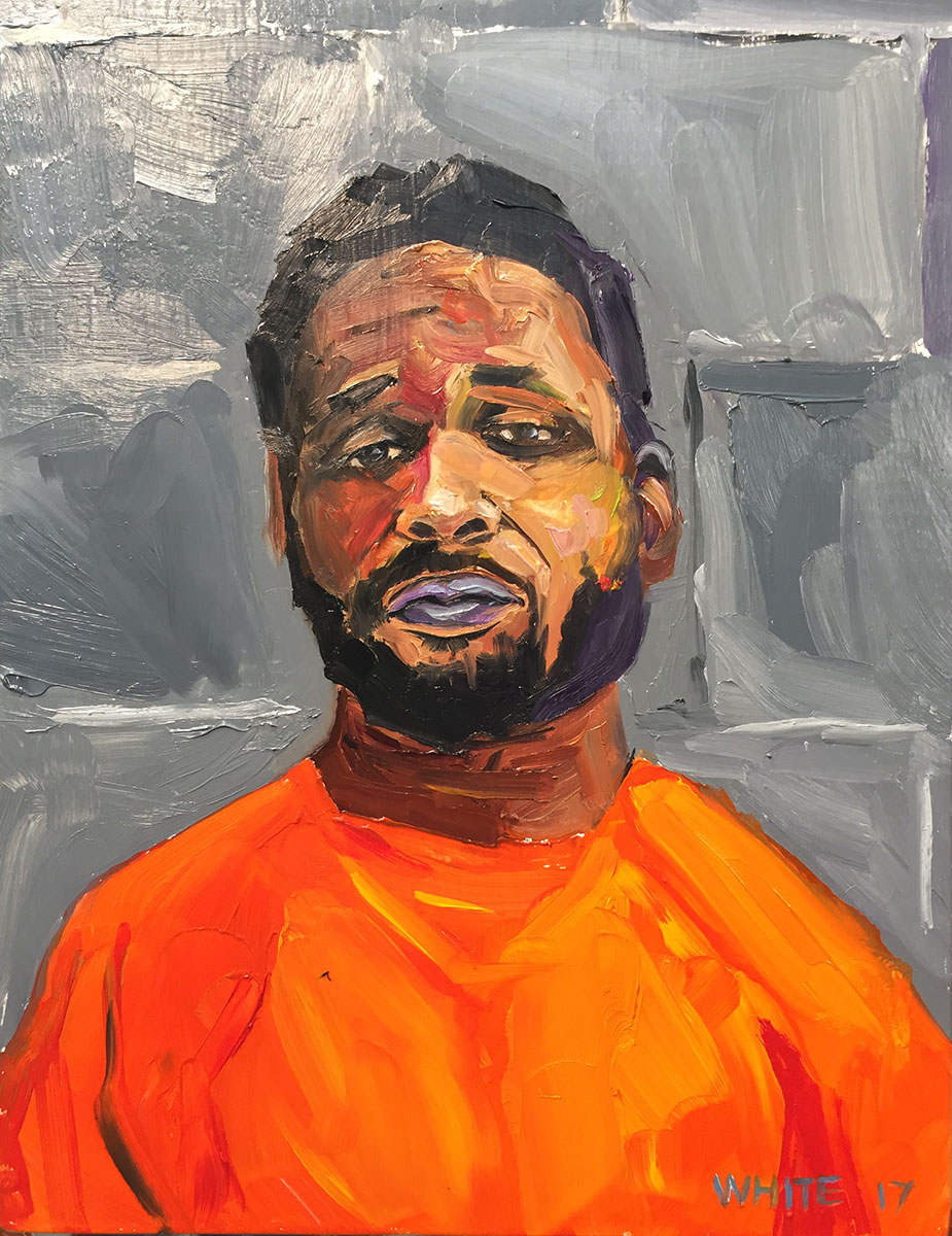 Reed White painting mugshot 004 : Cruel and Unusual Punishment
