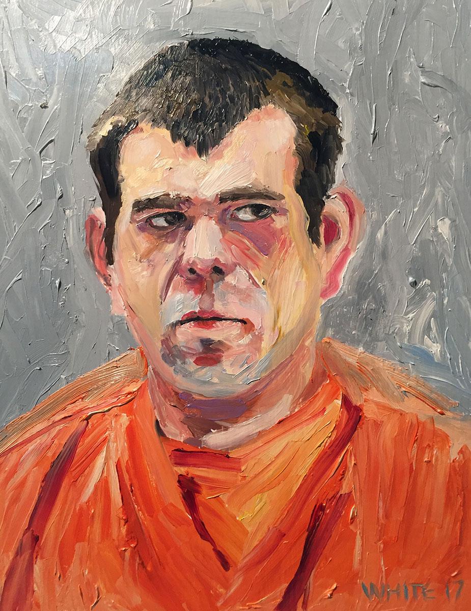 Reed White painting mugshot 007 : Cruel and Unusual Punishment