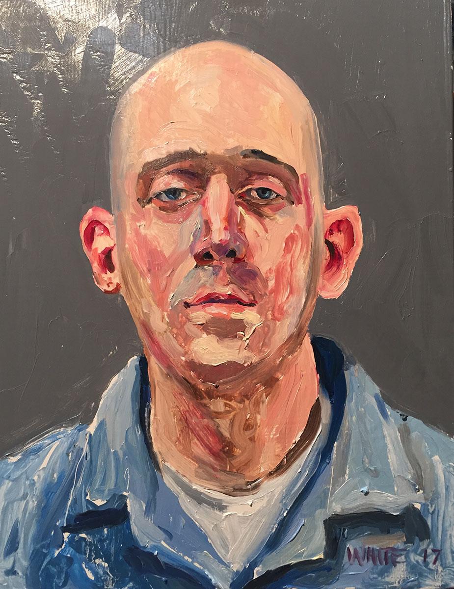 Reed White painting mugshot 012 : Cruel and Unusual Punishment