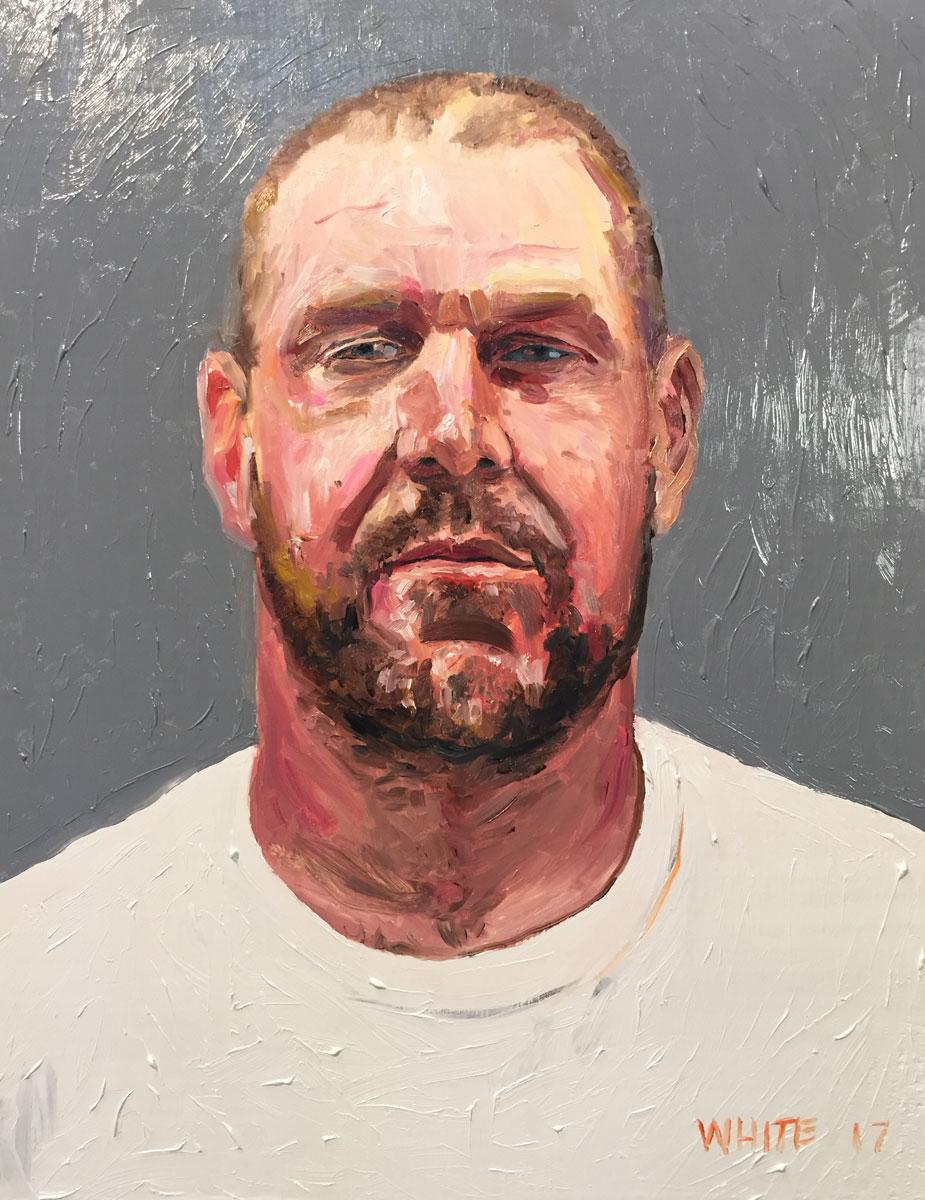 Reed White painting mugshot 017 : Cruel and Unusual Punishment