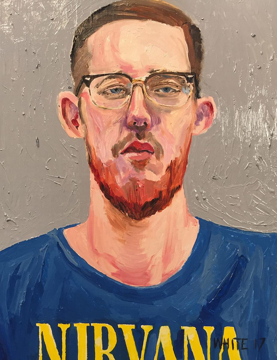 Reed White painting mugshot 028 : Cruel and Unusual Punishment