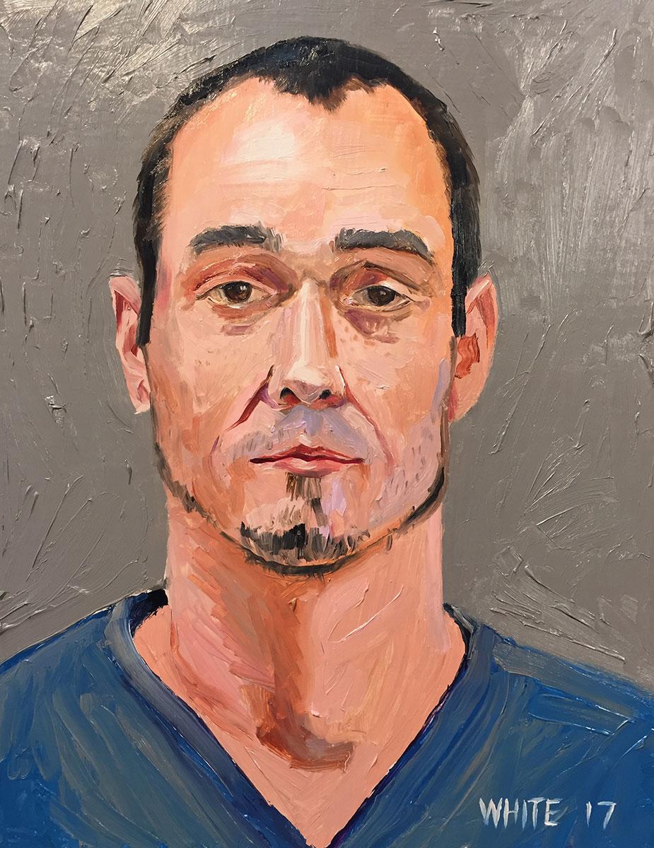 Reed White painting mugshot 029 : Cruel and Unusual Punishment