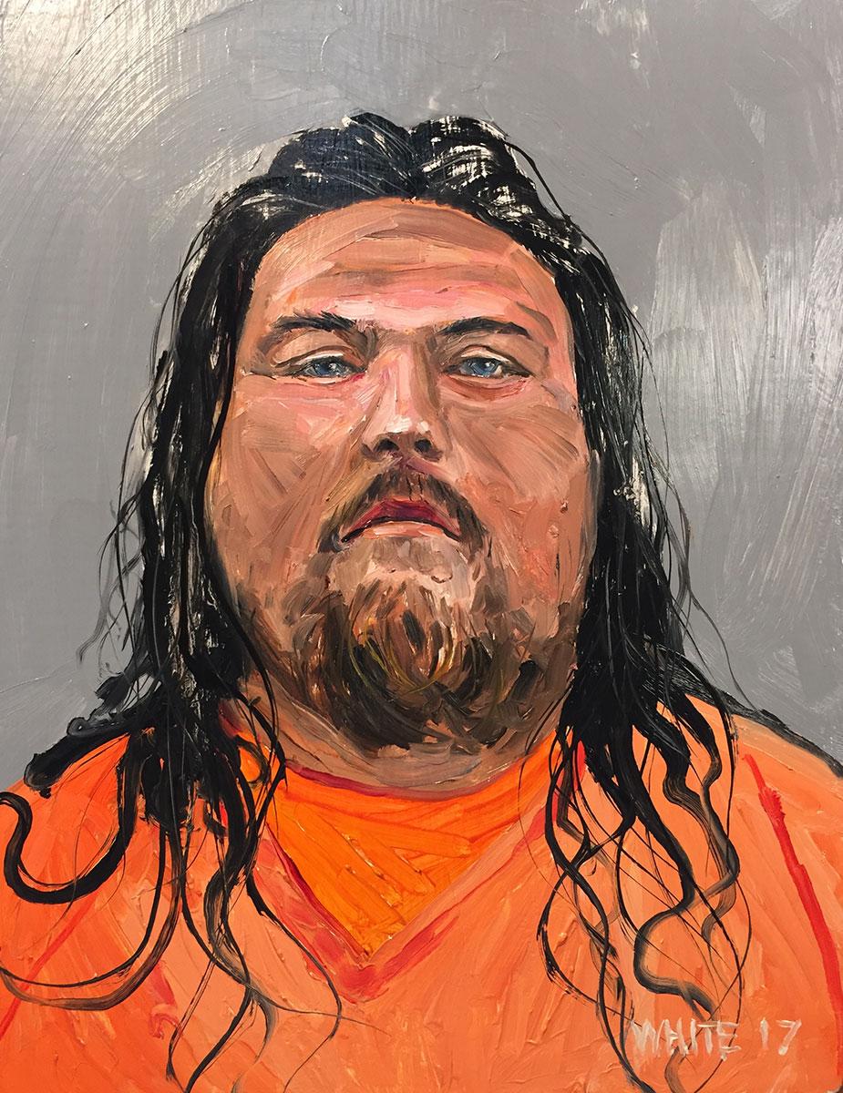 Reed White painting mugshot 021 : Cruel and Unusual Punishment
