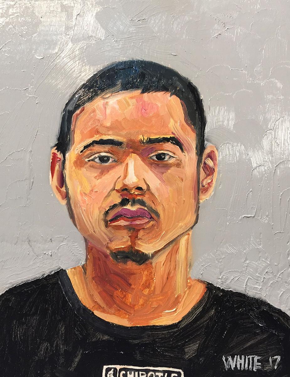 Reed White painting mugshot 023 : Cruel and Unusual Punishment