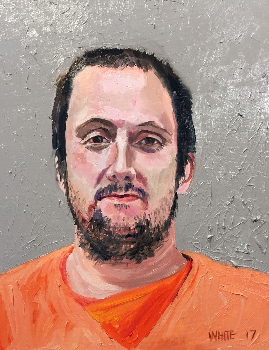 Reed White painting mugshot 024 : Cruel and Unusual Punishment