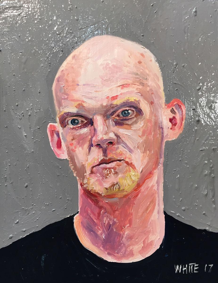Reed White painting mugshot 025 : Cruel and Unusual Punishment
