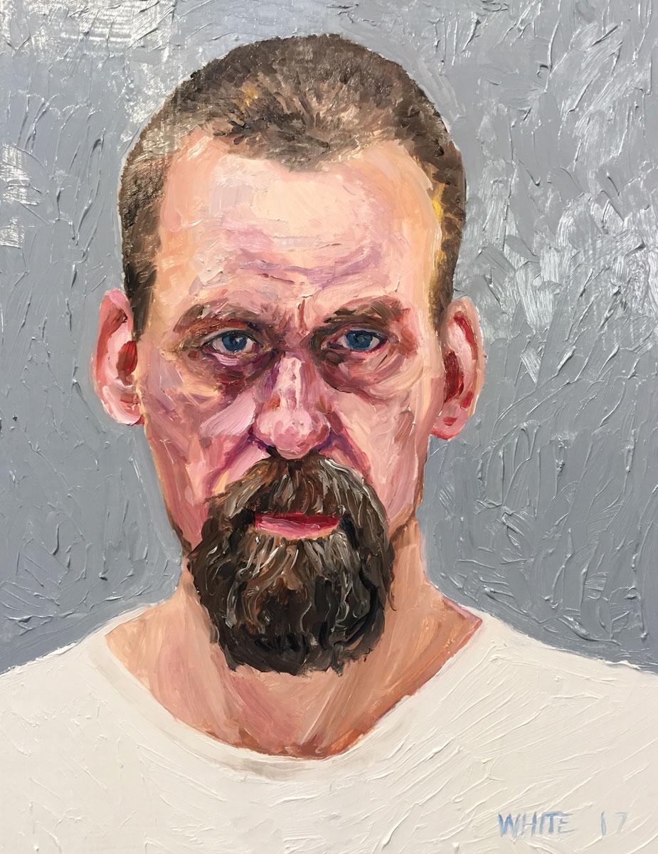 Reed White painting mugshot 026 : Cruel and Unusual Punishment
