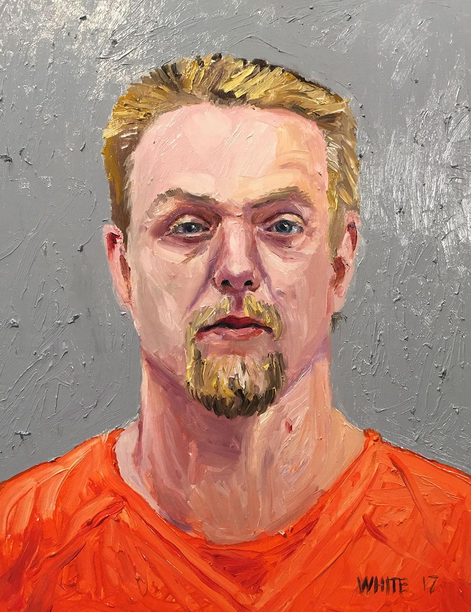Reed White painting mugshot 027 : Cruel and Unusual Punishment