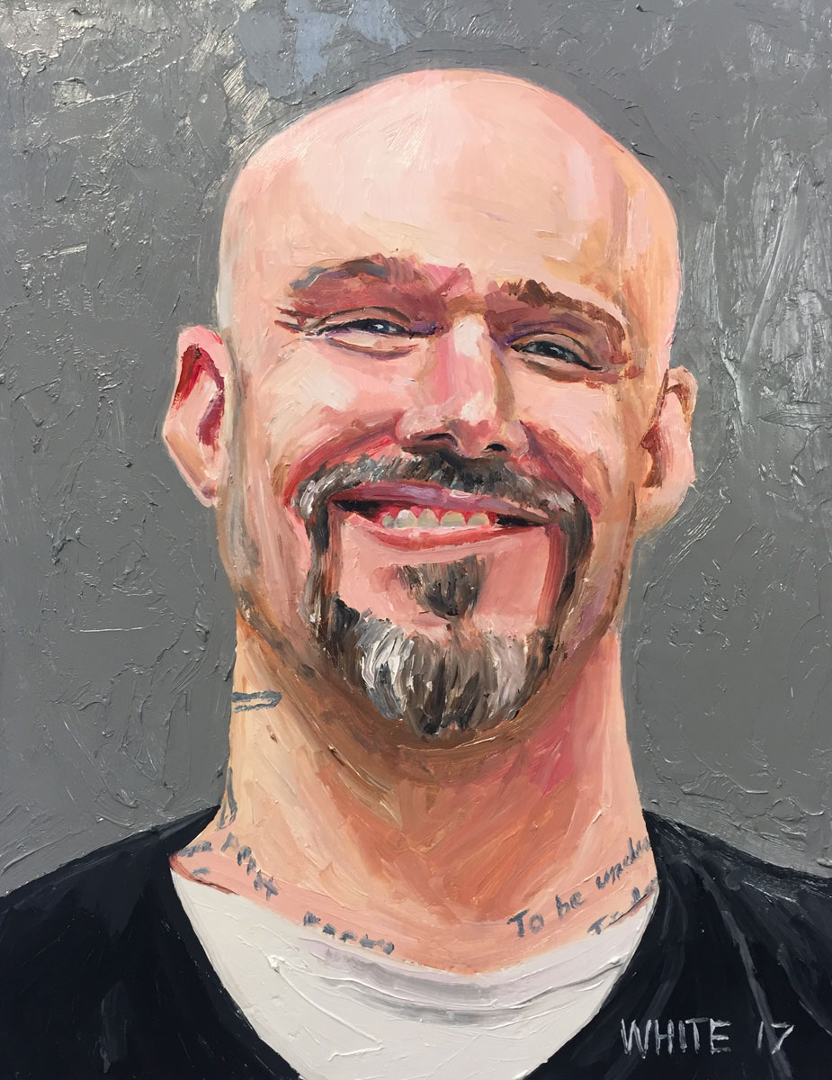 Reed White painting mugshot 030 : Cruel and Unusual Punishment